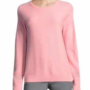 ST. JOHN COLLECTION LINKS CASHMERE SWEATER.